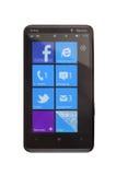 Mango del teléfono 7.5 de Windows Fotografía de archivo