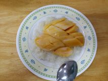 Mango desert. Sweet treat, thailand Royalty Free Stock Image