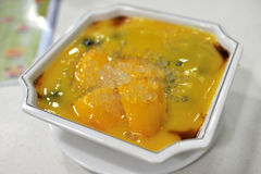 Mango dessert. Sweet after meal mango dessert Stock Photos