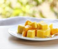 Mango dessert Stock Image