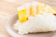 Mango dolce con riso appiccicoso immagini stock libere da diritti