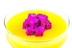 Mango Dragon Fruit Pudding VI Royalty Free Stock Images
