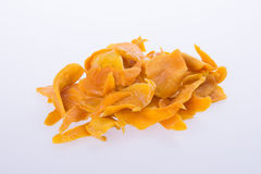 mango dry or dried mango slices on background. Royalty Free Stock Photo