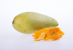 mango dry or dried mango slices on background. Royalty Free Stock Photos