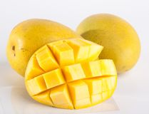 mango mango dulce en fondo Imagenes de archivo