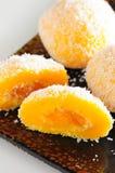 Mango dumpling dessert stock photo