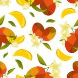 Mango e fiore senza cuciture del modello illustrazione vettoriale