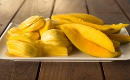 Mango e giaca su un piatto Fotografia Stock