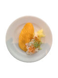 Mango e riso appiccicoso con latte di cocco Fotografie Stock