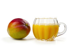 Mango e succo di mango Stock Images