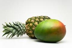 Mango en ananas Royalty-vrije Stock Afbeelding