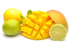 Mango and exotic fruits Royalty Free Stock Image