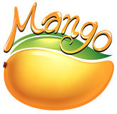 Mango food label on white Stock Photo