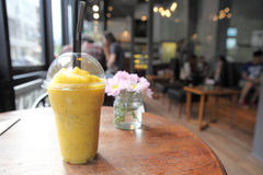 Mango frappe juice Royalty Free Stock Image