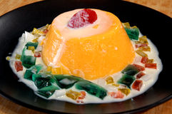 Mango frozen sorbet Royalty Free Stock Photos