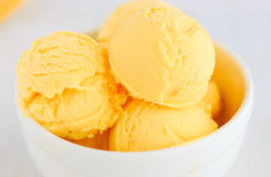 Mango frozen yogurt ice cream Royalty Free Stock Photo