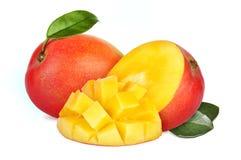 Mango fruit. Mango with section on a white background Royalty Free Stock Photography