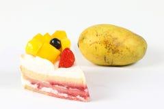 Mango fruit cake Stock Images