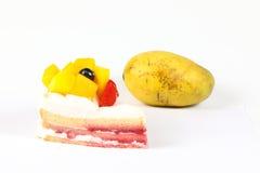 Mango fruit cake Royalty Free Stock Photo