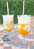 Mango fruit cocktail / daiquiri Royalty Free Stock Photo