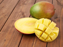 Mango fruit composition Stock Images