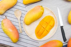 Mango fruit , fruit on summer. Piece of sweet mango Stock Photography