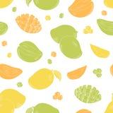 Mango fruit graphic color seamless pattern background sketch illustration vector vector illustration