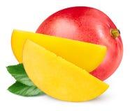 Mango fruit isolated. On white background stock photos