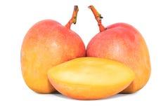 Mango fruit isolated on white royalty free stock photography