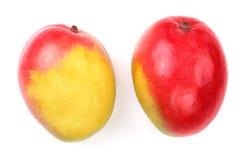 Mango fruit isolated on white background close-up.  Royalty Free Stock Photos