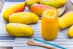 Mango fruit , mango smoothies beverage fruit mango. On summer Stock Photo