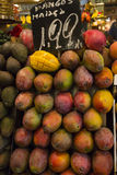 Mango Fruit with price label Royalty Free Stock Photos