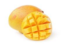 Mango fruit sliced isolated on white Royalty Free Stock Image
