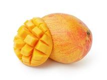 Mango fruit sliced isolated on white Royalty Free Stock Images