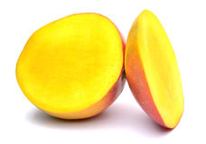 Mango fruits on white background Stock Photos