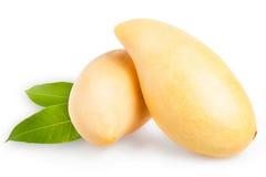 Mango giallo isolato su bianco Immagine Stock