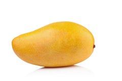Mango giallo isolato su fondo bianco Fotografia Stock
