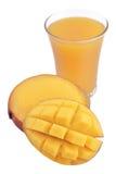Mango and a glass of mango juice Stock Photo