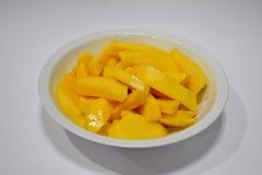 Mango gotujący z wodnym kwiatem Zdjęcia Royalty Free