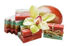 Mango handmade soap Royalty Free Stock Image