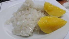 Mango i ryż Zdjęcia Stock