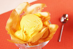 Mango ice cream Stock Photography