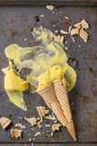 Mango ice cream Stock Image