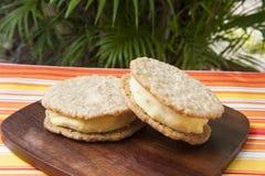 Mango Ice Cream Sandwiches Royalty Free Stock Image