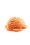 Mango ice cream scoop Royalty Free Stock Photography