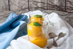 Mango ice cream sorbet Stock Photo
