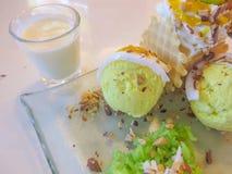 Mango ice cream Stock Photography