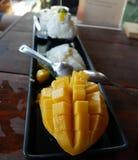 Mango ice cream royalty free stock image