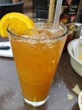 Mango iced tea Royalty Free Stock Photos