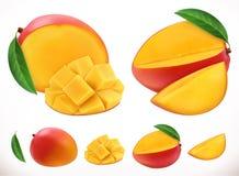 mango Icono del vector de la fruta fresca 3d ilustración del vector